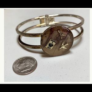 Jewelry - Hinged bracelet with map